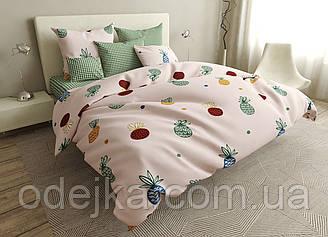 Двуспальный комплект постельного белья евро 200*220 ранфорс  (16737) TM KRISPOL Украина
