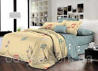 Двуспальный комплект постельного белья евро 200*220 ранфорс  (16739) TM KRISPOL Украина