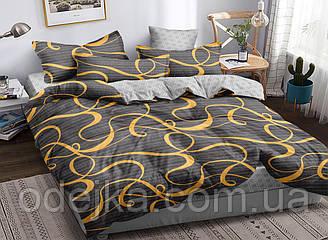Двуспальный комплект постельного белья 180*220 сатин (16802) TM КРИСПОЛ Украина