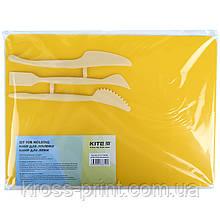 Набір для ліплення Kite K17-1140-08 (дошка + 3 стека), жовтий