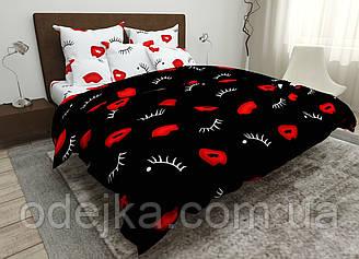 Двуспальный комплект постельного белья евро 200*220 хлопок  (15850) TM KRISPOL Украина
