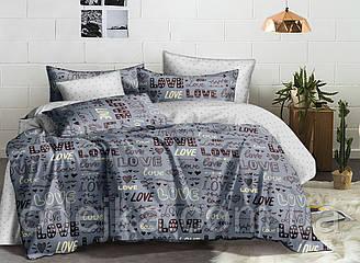 Двуспальный комплект постельного белья 180*220 сатин (16801) TM КРИСПОЛ Украина