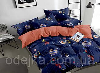 Двуспальный комплект постельного белья 180*220 сатин (16804) TM КРИСПОЛ Украина