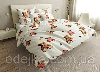 Двуспальный комплект постельного белья 180*220 сатин (16807) TM КРИСПОЛ Украина