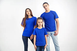 Васильковая (электрик) однотонная футболка (Цвета и размеры в ассортименте)