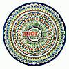 Ляган (узбекская тарелка) 42х5см для подачи плова керамический (ручная роспись) (вариант 30)