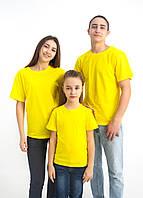 Желтая однотонная футболка (Цвета и размеры в ассортименте)