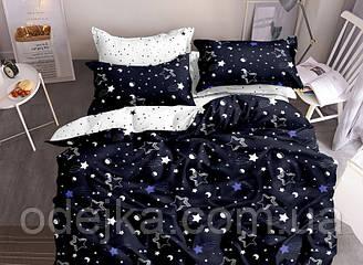 Двуспальный комплект постельного белья евро 200*220 ранфорс  (16965) TM KRISPOL Украина