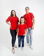 Красная однотонная футболка (Цвета и размеры в ассортименте)