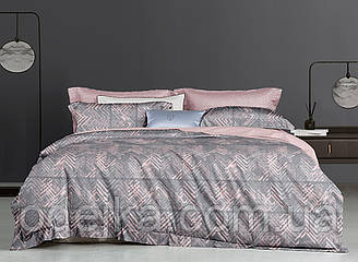 Двуспальный комплект постельного белья евро 200*220 ранфорс  (16977) TM KRISPOL Украина