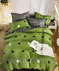 Двуспальный комплект постельного белья евро 200*220 ранфорс  (17001) TM KRISPOL Украина