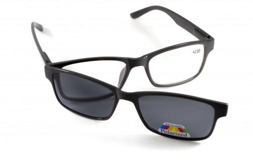 Окуляри для зору з поляризацією Global Vision Eyewear READERS MAGNETIC +2,0 дптр