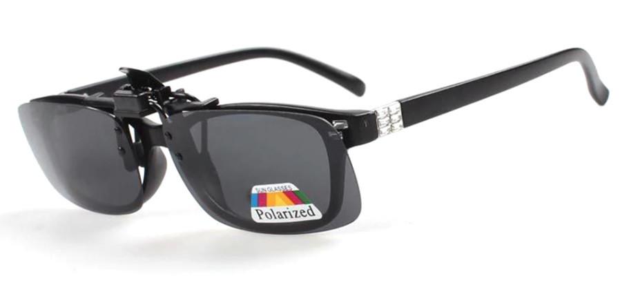 Поляризаційна накладка на окуляри RockBros чорна маленька
