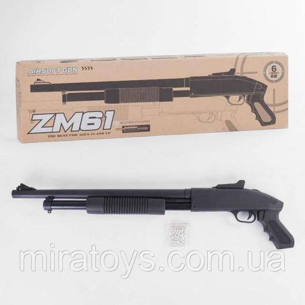 Іграшкова помпову рушницю дробовик вінчестер ZM 61 з металевим корпусом