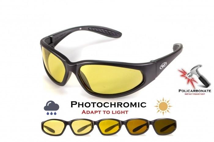 Фотохромні окуляри хамелеони Global Vision Eyewear HERCULES 1 Yellow