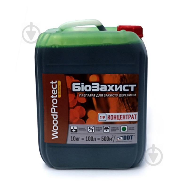 Биозащита DDT WoodProtect концентрат зеленый 10 л
