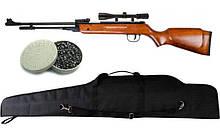 Пружинно-поршнева гвинтівка AIR RIFLE B3-3 + приціл 4х20 + кулі Oztay 0,51 + чохол
