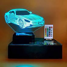"""3D светильник-ночник """"Автомобиль"""" + пульт + аккумулятор 3DTOYSLAMP MINI"""