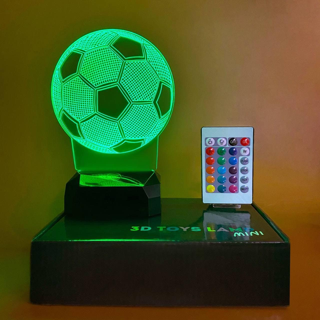 """3D светильник-ночник """"Футбольный мяч"""" + пульт + аккумулятор 3DTOYSLAMP MINI"""