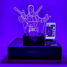 "3D светильник-ночник ""Дэдпул"" + пульт + аккумулятор 3DTOYSLAMP MINI"