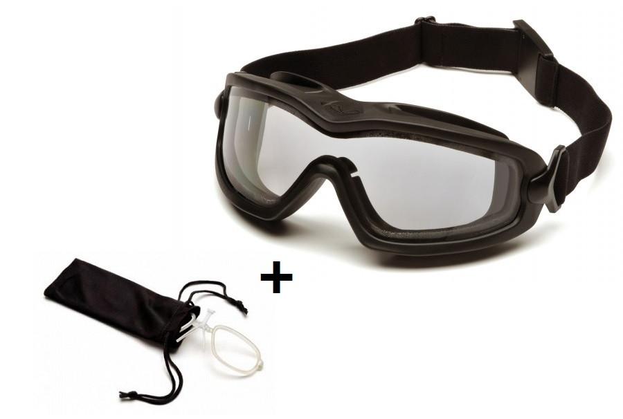 Тактические очки с диоптрической вставкой Pyramex V2G-PLUS прозрачные