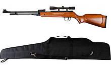 Пружинно-поршнева гвинтівка AIR RIFLE B3-3 + приціл 4х20 + чохол