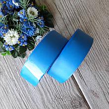 Репс однотонний бобіна. Колір блакитний (ближче до васильковому). Ширина 2.5 см