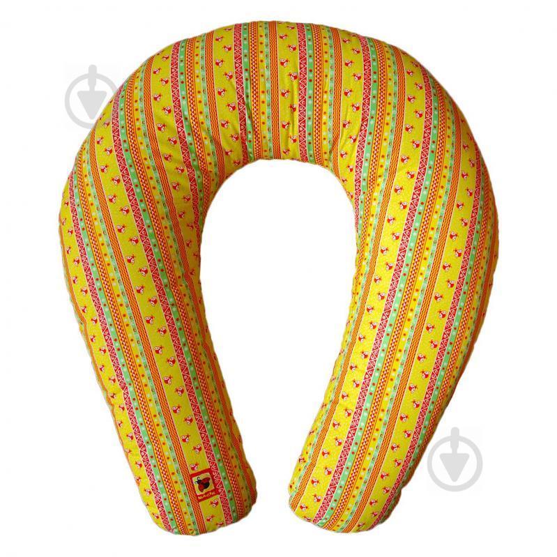 Подушка для годування Масік з чохлом жовтий 68х55 см МС 110612-05