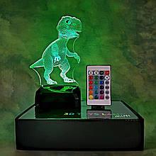 """3D светильник-ночник """"Динозаврик """" + пульт + аккумулятор 3DTOYSLAMP MINI"""