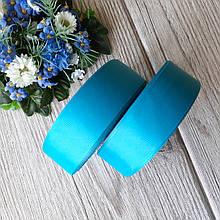 Репс однотонний бобіна. Колір блакитний (темно сірий). Ширина 2.5 см