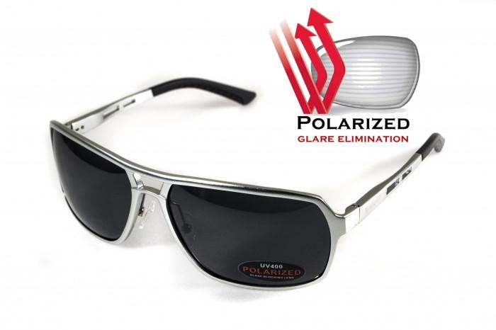 Поляризационные очки BluWater ALUMINATION 4 Silver Gray