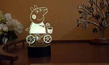 Ночник 3D светильник «Пэппа» 3D Creative