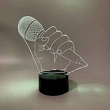 "3D нічник ""Мікрофон"" 3DTOYSLAMP"