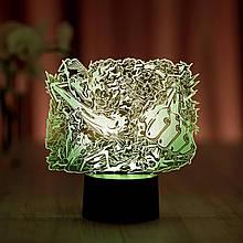 """3D нічник """"Монки Д. Луффі 4"""" 3DTOYSLAMP"""