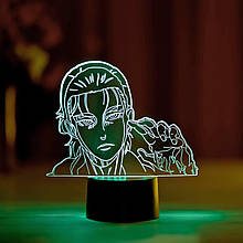 """3D ночник """"Леви Акерман 2"""" 3DTOYSLAMP"""