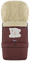 Зимний конверт Babyroom №20 с удлинением шоколад (мордочка мишки штопаная)