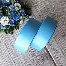 Репс однотонний на метраж. Колір класичний блакитний. Ширина 2.5 см бобіна - 18 м