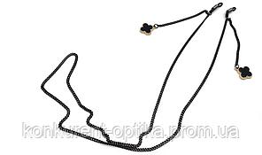 Имидживая цепочка для очков с черным цветком