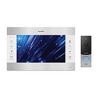 Комплект відеодомофона Slinex SL-10M Silver White + Виклична панель Slinex ML-20HD Silver Black