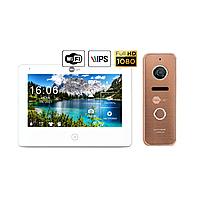 Комплект відеодомофона Neolight NeoKIT HD Pro WiFi Bronze