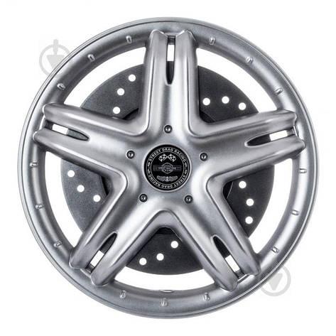 Ковпак для коліс STAR Вип з диском R13 4 шт. срібний, фото 2