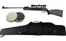 Пневматична гвинтівка Air Rifle LB600 + приціл 4х20 + кулі Oztay 0,51 + чохол