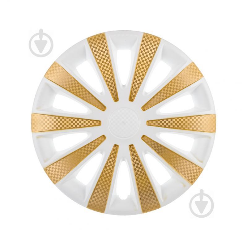 Колпак для колес STAR Карат White Super Gold R13 4 шт. микс