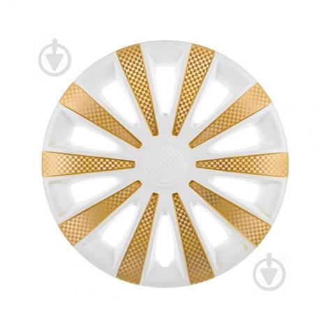 Колпак для колес STAR Карат White Super Gold R13 4 шт. микс, фото 2