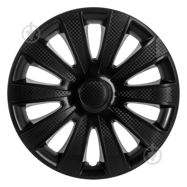 Колпак для колес STAR Карат Black Gloss R15 4 шт. черный