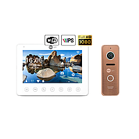 Комплект відеодомофона NeoLight NeoKIT HD+ WiFi Bronze