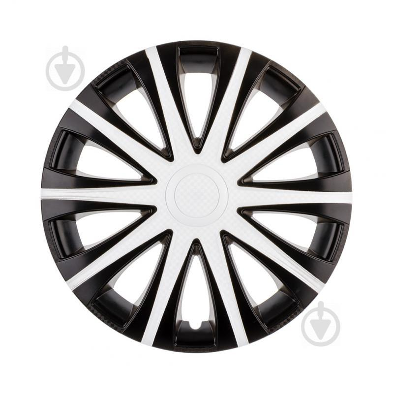 Ковпак для коліс STAR Май White Super Black R14 4 шт. мікс