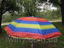Пляжний парасольку з регульованою висотою та нахилом 180 см 1, фото 3