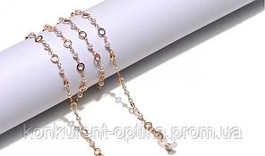 Имидживая и стильная золотая цепочка для очков