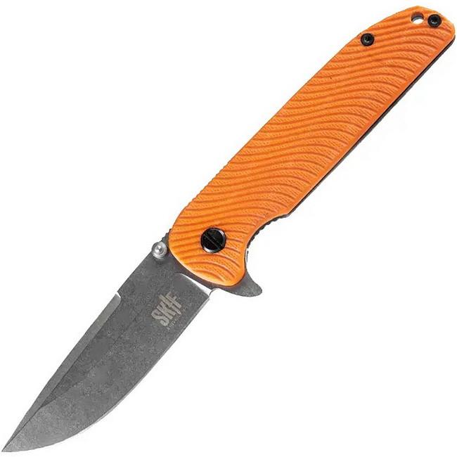Нож складной Skif Bulldog 733G (длина: 234мм, лезвие: 100мм), оранжевый